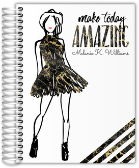 Amazing Golden Marble Daily Planner