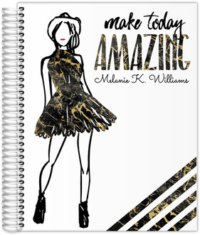Amazing Golden Marble Weekly Planner 8.5x11