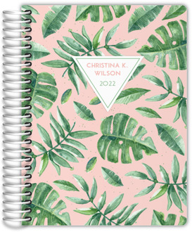 Delicate Watercolor Greens Daily Planner