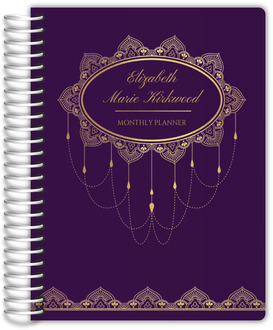 Elegant Faux Foil Decor Daily Planner