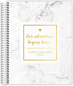 Adventure Begins Here Real Foil Wedding Planner
