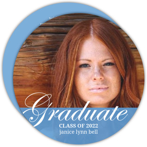 Blue Transparent Bar Graduation Announcement