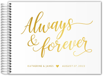 Always And Forever Real Foil Wedding Guest Book