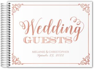 Framed Wedding Guest Real Foil Guest Book