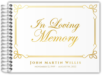 In Loving Memory Real Foil Funeral Guest Book