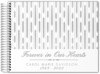 Forever In Our Hearts Real Foil Funeral Guest Book