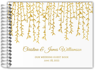 Hanging Branches Real Foil Wedding Guest Book