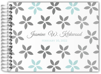 Geometric Flower Real Foil Birthday Guest Book
