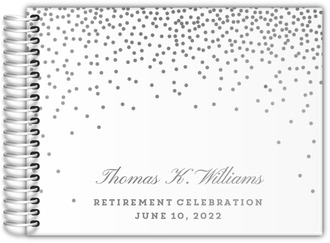 Party Confetti Real Foil Retirement Guest Book