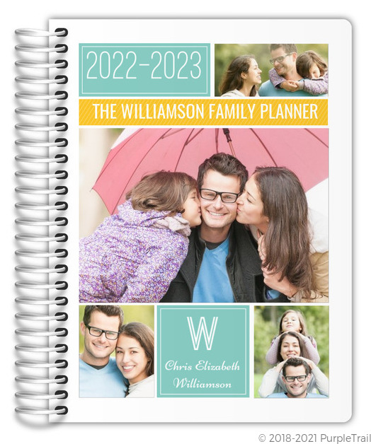 Colorful Family Photo Grid Mom Planner