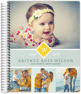 Cute Monogram & Photo Collage Mom Planner