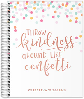Throw Kindness Real Foil Teacher Planner