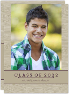 Rustic Banner Graduation Announcement