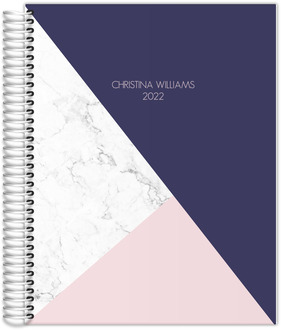 Modern Marble Geometric Daily Planner