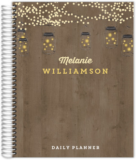 Rustic String Lights Daily Planner 8.5x11