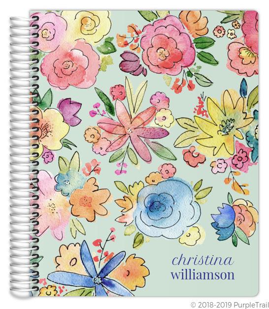 Vibrant Watercolor Flowers Mom/Parent Planner
