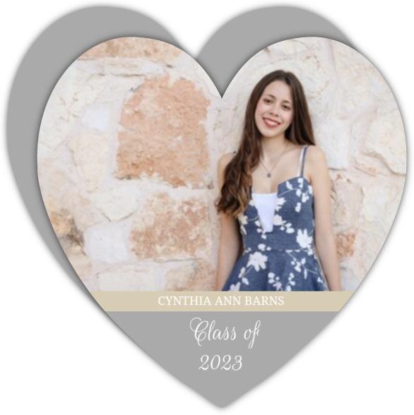 Sky Blue Heart Graduation Announcement