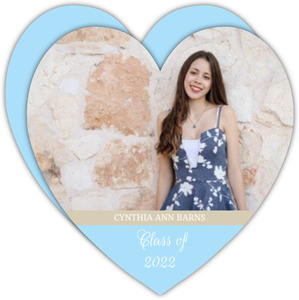 Sky Blue Heart Graduation Announcement