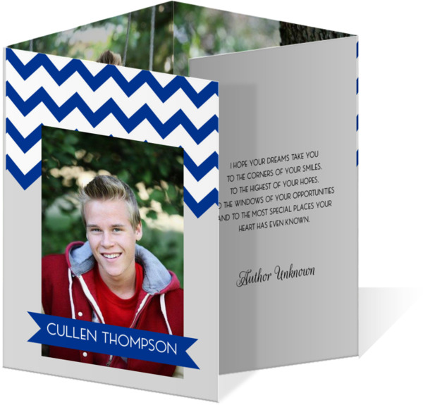 Red Chevron Graduation Announcement