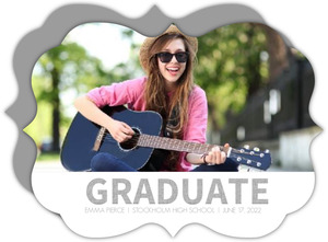 Gray Contemporary Graduation Announcement