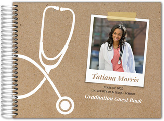 Kraft Stethoscope Nursing School Graduation Guest Book