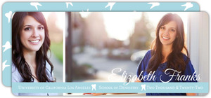 Blue Simple Photo Dental Graduation Announcement