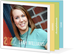 Pastel Colors Graduation Announcement