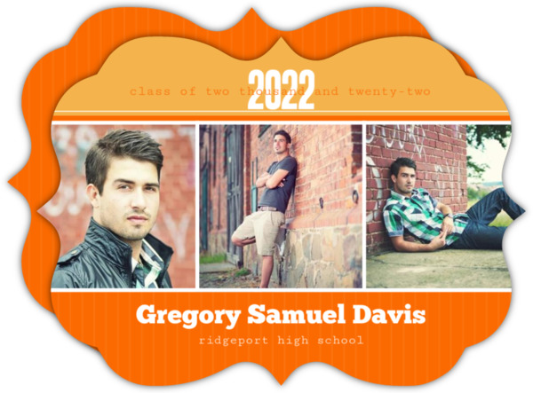 Blue and Gray Photo Bar Graduation Annoucement