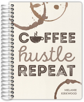 Coffee Hustle Repeat Daily Planner