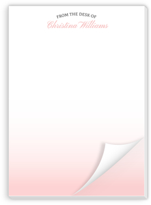 Minimalist Gradient Custom Notepad