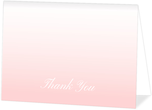 Minimalist Gradient Custom Thank You Card