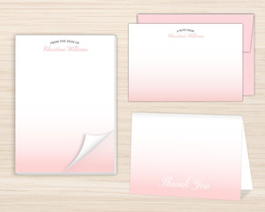 Minimalist Gradient Stationery Set