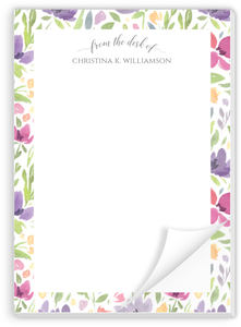 Seamless Watercolor Pattern Custom Notepad