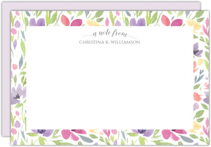 Seamless Watercolor Pattern Custom Notecard