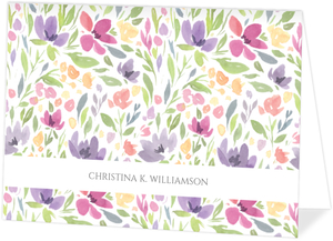 Seamless Watercolor Pattern Thank You Card