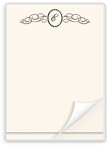 Flourished Monogram Crest Custom Notepad