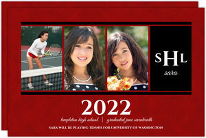 Maroon Collage Photo Graduation Announcement