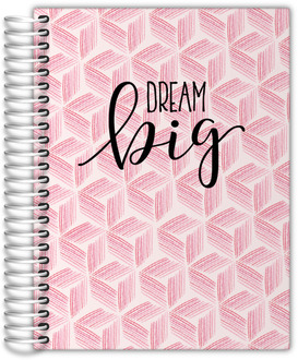 Pink Geometric Watercolor Pattern Wedding Planner