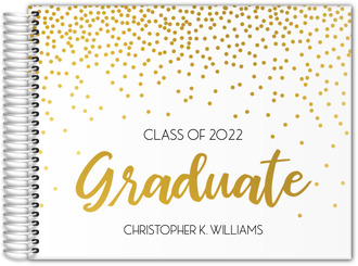 Graduate Party Confetti Real Foil Graduation Guest Book