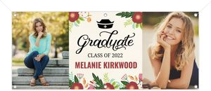 Bold Flower Bunch Graduation Banner