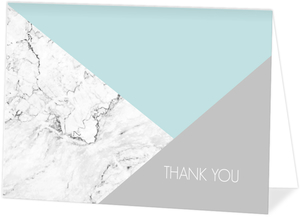 Modern Marble Geometric Thank You Card