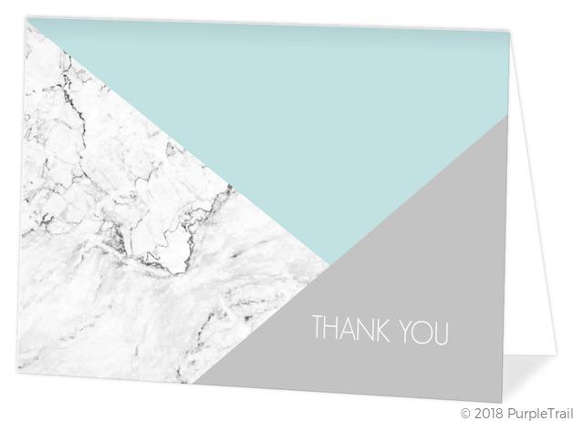 Modern Marble Geometric Thank You Card