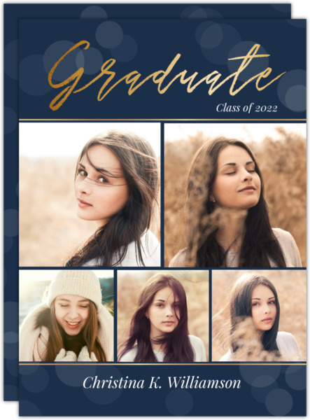 Bokeh Background Graduation Invitation