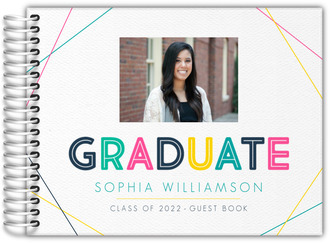 Modern Colorful Frame Graduation Guest Book