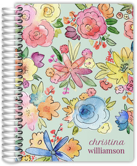 Vibrant Watercolor Flowers Weekly Planner 6x8