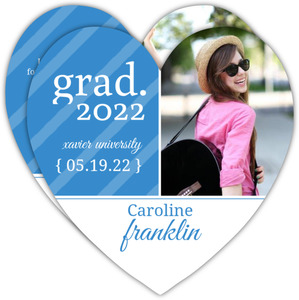 Blue Heart Graduation Announcement