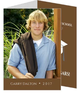 Gray and Brown Graduation Announcement
