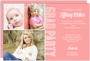 Simple Pink Photo Years Graduation Invitation