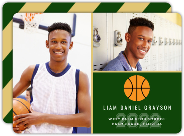 School ColorS Basketball Graduation Announcement
