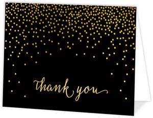 Faux Foil Gold Confetti Graduation Thank You Card